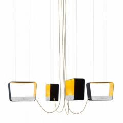 01.Designheure - Chandelier 4 Medium Rectangular - Eau de lumiere (Davide Oppizzi)